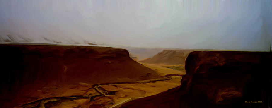 Cliffs Painting - The Road To Seiyon by Wayne Bonney