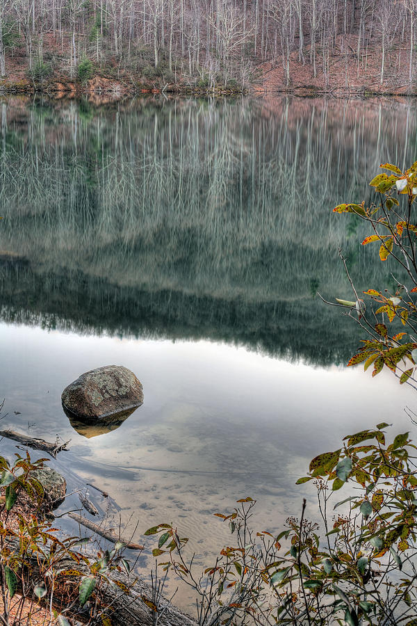 Stream Photograph - The Rock by JC Findley