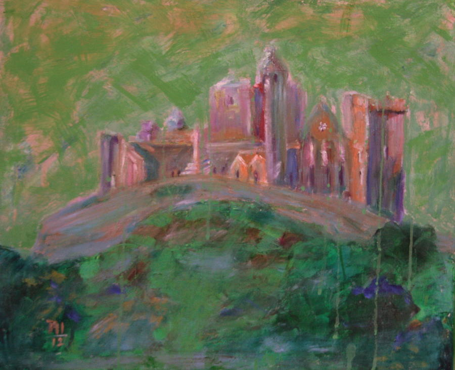 Ireland Painting - The Rock Of Cashel by Rosemen Elsayad