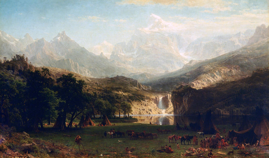 Horizontal Photograph - the Rocky Mountains By Albert Bierstadt by Photos.com