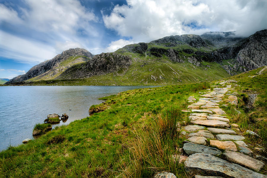 Clouds Photograph - The Rocky Path by Adrian Evans