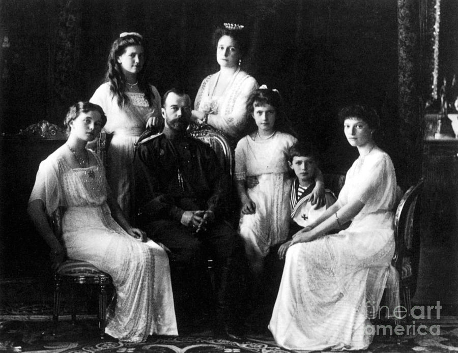 Empress Photograph - The Romanovs, Russian Tsar With Family by Science Source