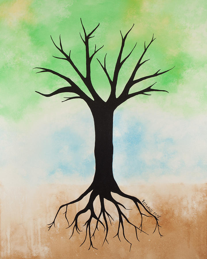 Scripture Painting - The Root by Jodi Leigh