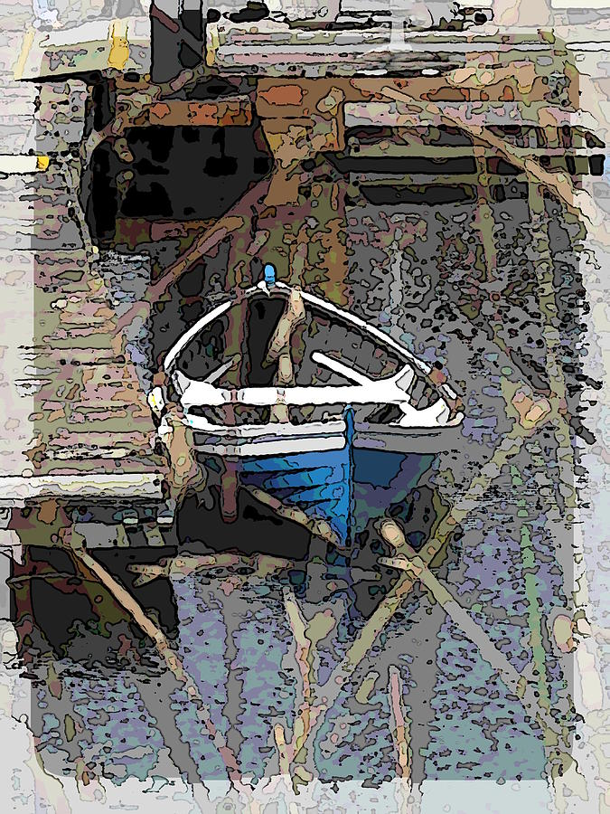 Boat Digital Art - The Rowboat by Tim Allen