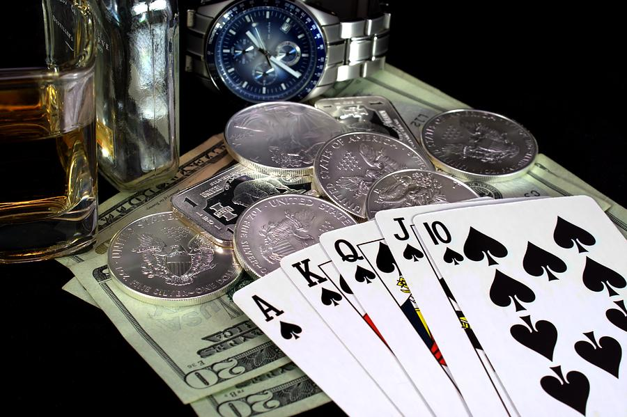 Poker Photograph - The Royal Flush by Lynnette Johns
