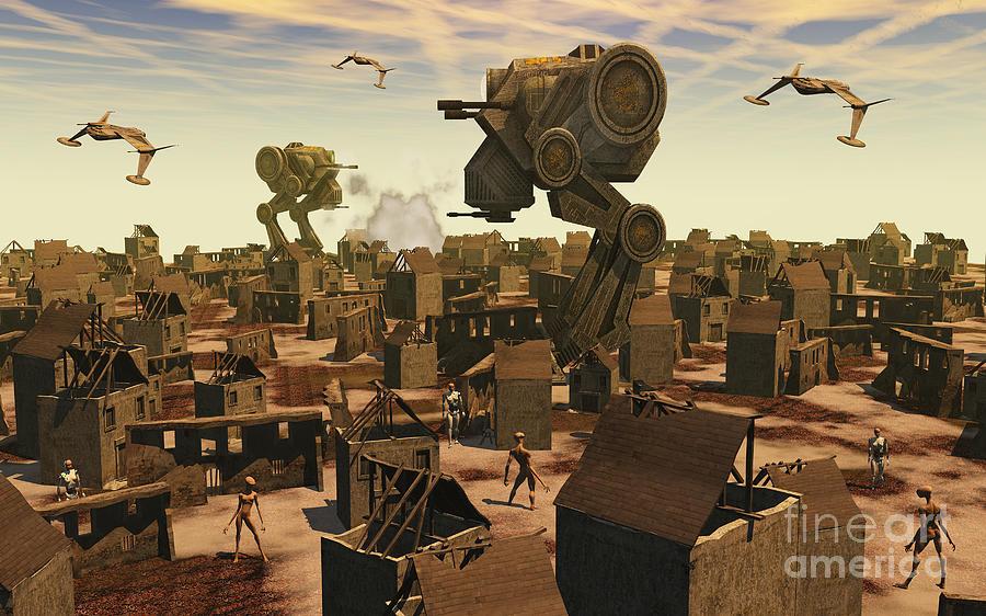 Building Digital Art - The Ruins Of An Earth Type Environment by Mark Stevenson