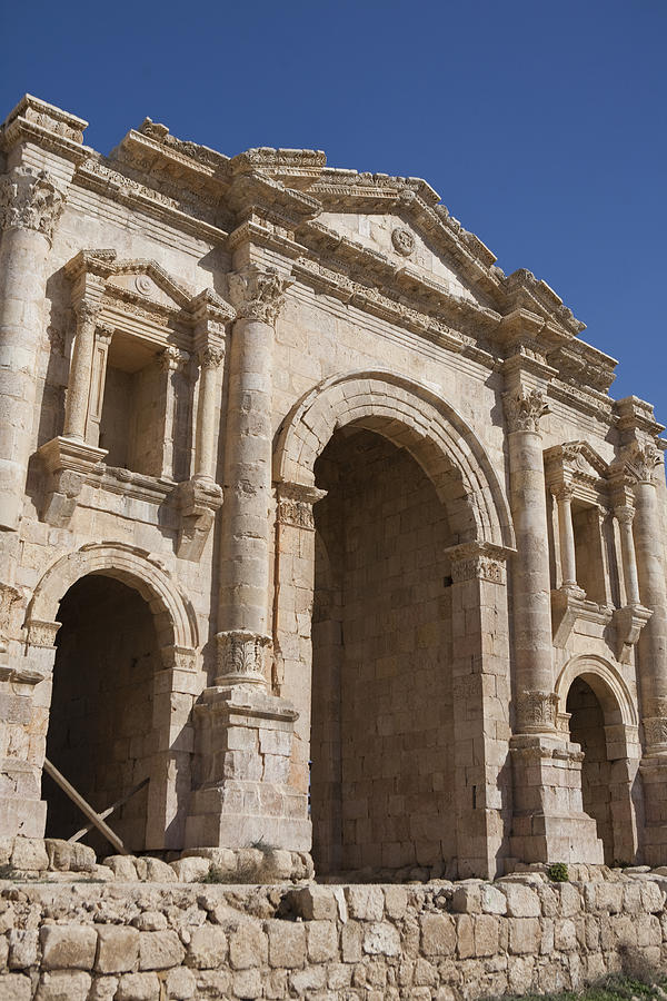 Columns Photograph - The Ruins Of The Ancient City Of Jerash by Taylor S. Kennedy