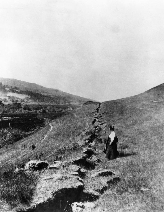 1900s Photograph - The San Andreas Fault In Olema by Everett