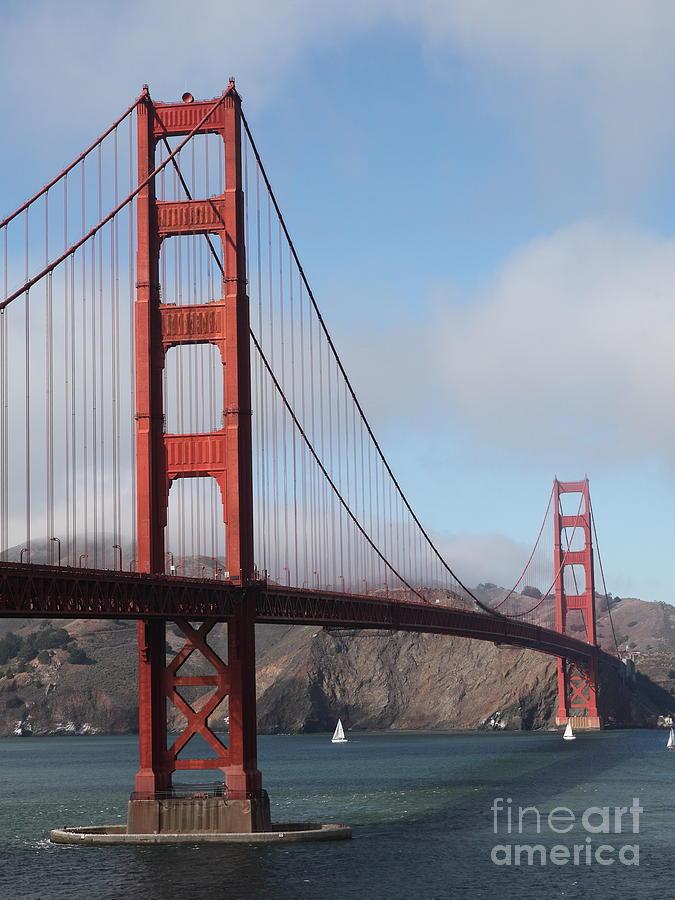 San Francisco Photograph - The San Francisco Golden Gate Bridge - 5d18906 by Wingsdomain Art and Photography