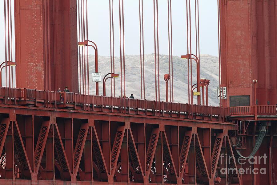 San Francisco Photograph - The San Francisco Golden Gate Bridge - 7d19060 by Wingsdomain Art and Photography
