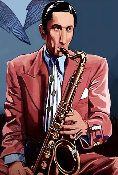 Saxo Drawing - The Saxofonist by Jose Roldan Rendon