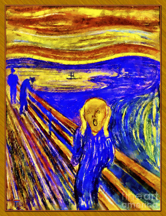 Edvard Munch Painting - The Scream by Vidka Art