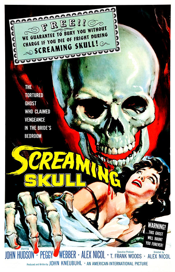 Blood Photograph - The Screaming Skull, 1958 by Everett