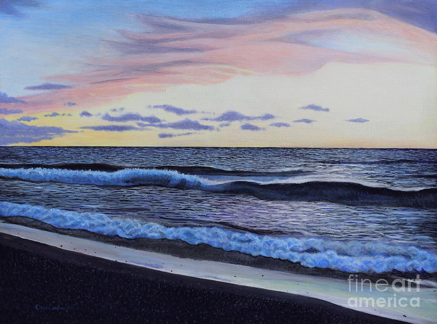 Sunset Painting - The Sea Was Angry That Day My Friends... by Dan Lockaby