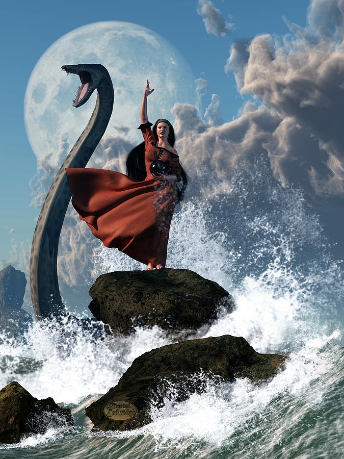 Witch Digital Art - The Sea Witch by Daniel Eskridge