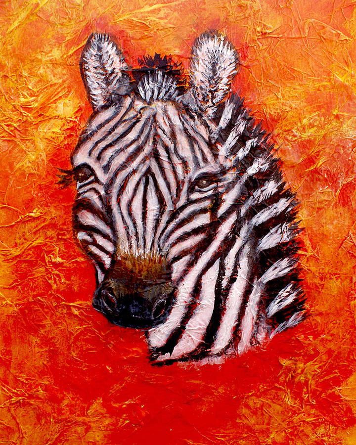 Zebra Painting - The Seen And Unseen by The Art With A Heart By Charlotte Phillips