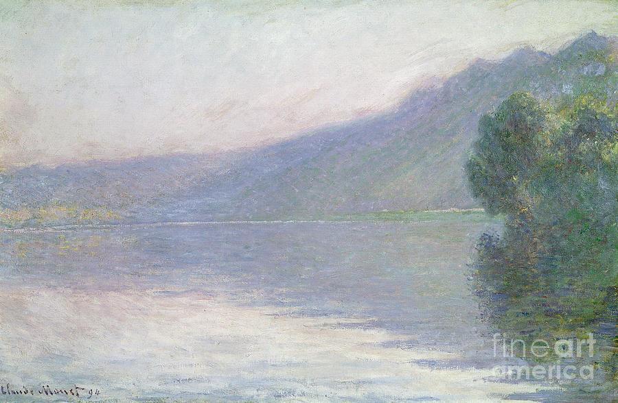 Claude Painting - The Seine At Port Villez by Claude Monet