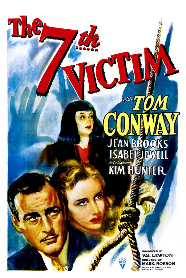 1940s Movies Photograph - The Seventh Victim, Tom Conway, Kim by Everett