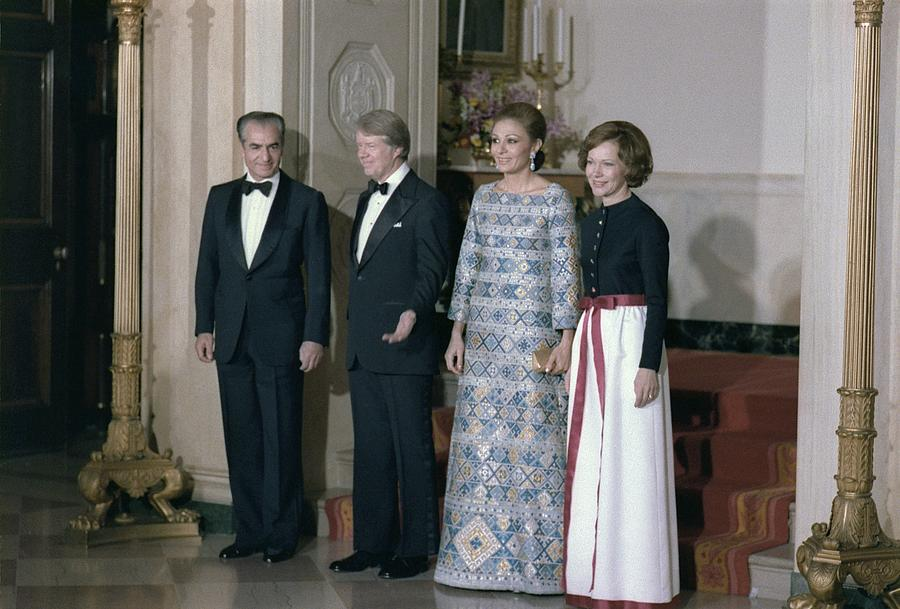 History Photograph - The Shah Of Iran Jimmy Carter by Everett