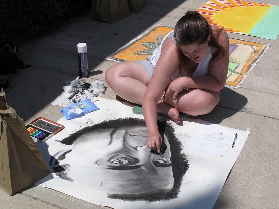 The Sidewalk Artist Photograph