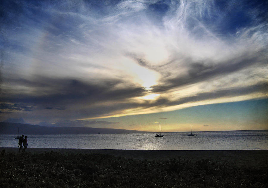 Maui Photograph - The Sky Is Exploding by Laurie Search