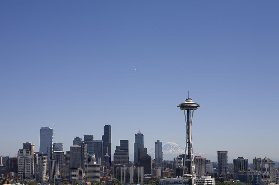 Seattle Photograph - The Skyline Of Seattle On A Sunny by Taylor S. Kennedy
