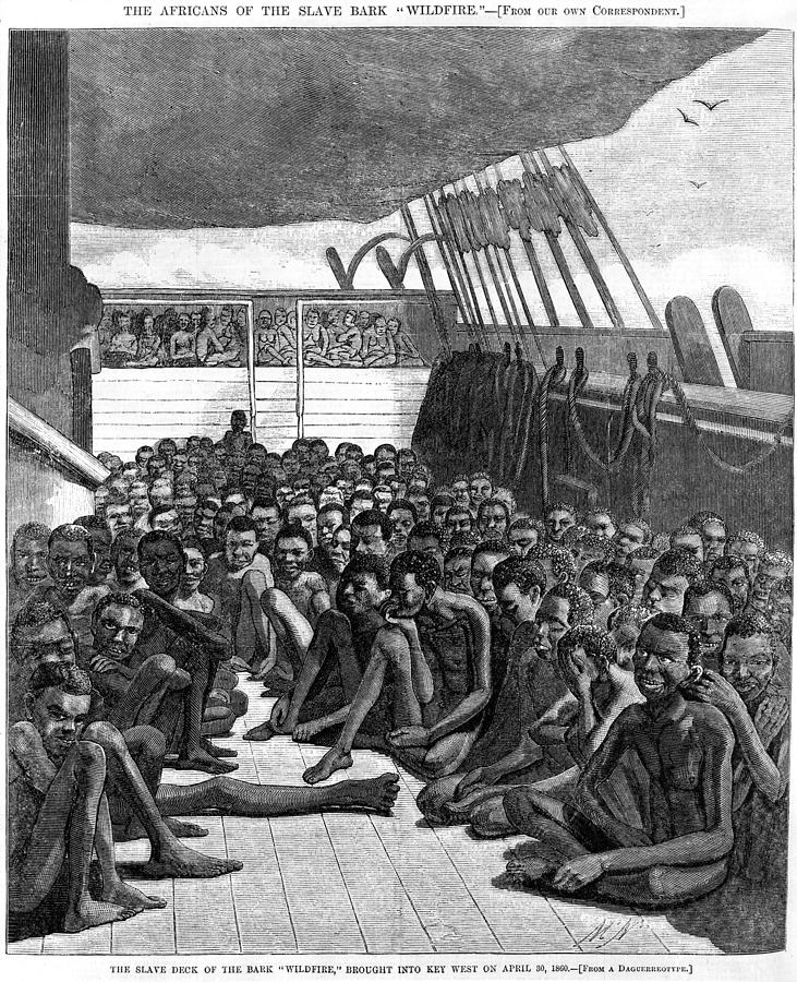 History Photograph - The Slave Deck Of The Ship Wildfire by Everett