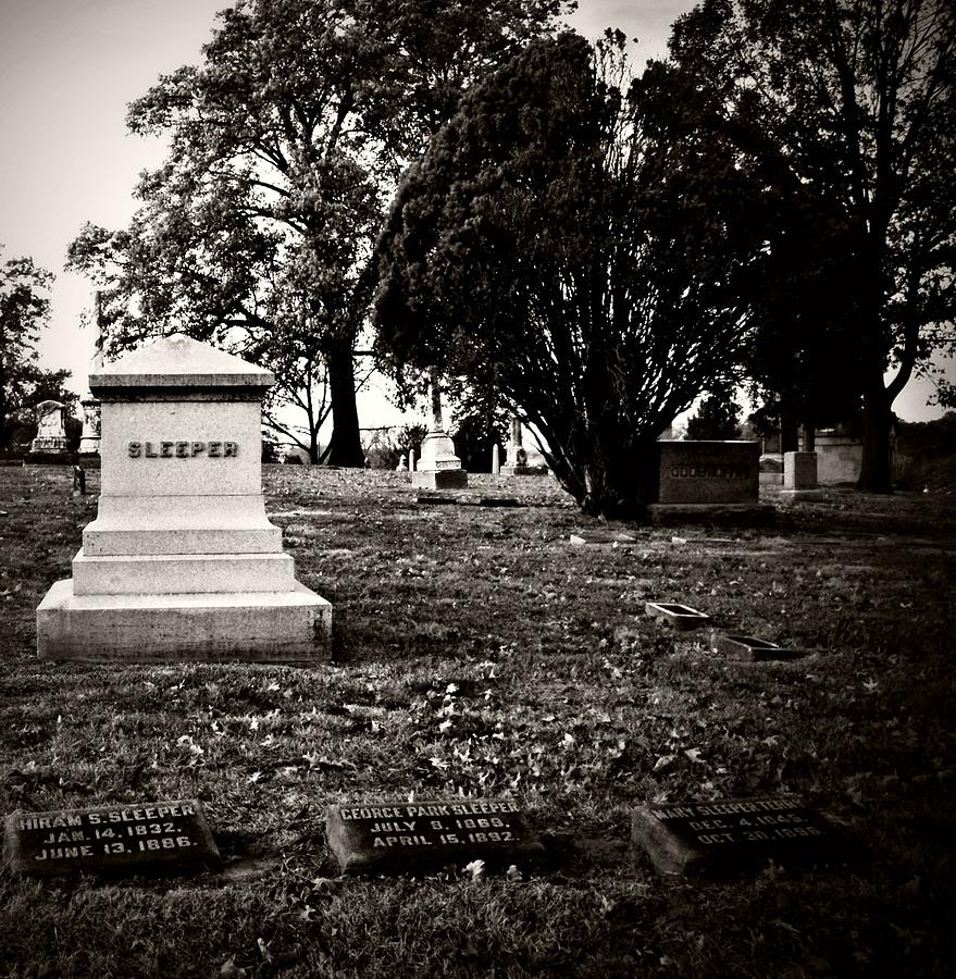 Graveyard Photograph - The Sleeper Family by Chris Berry