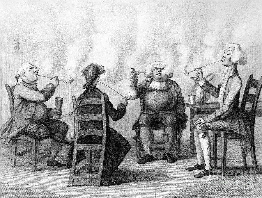 19th Century Photograph - The Smoking Club by Granger