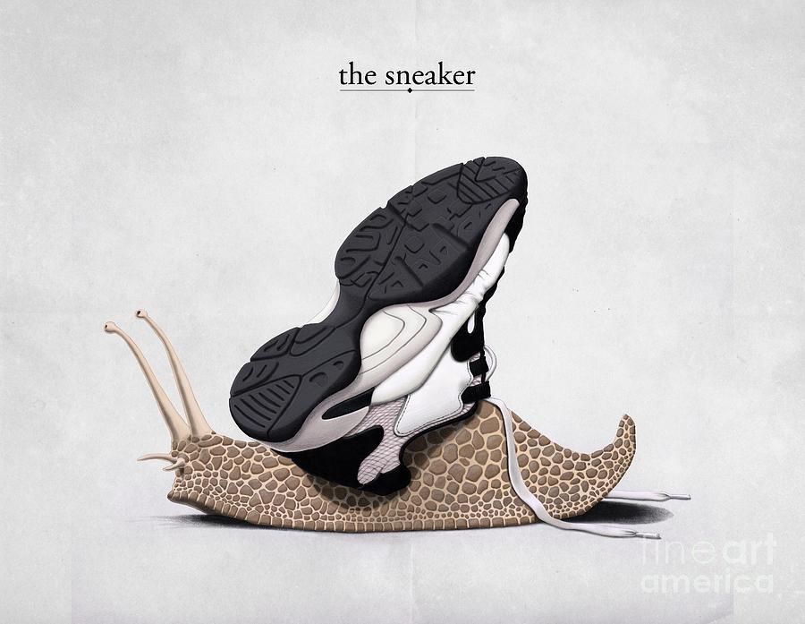 Snail Digital Art - The Sneaker by Rob Snow