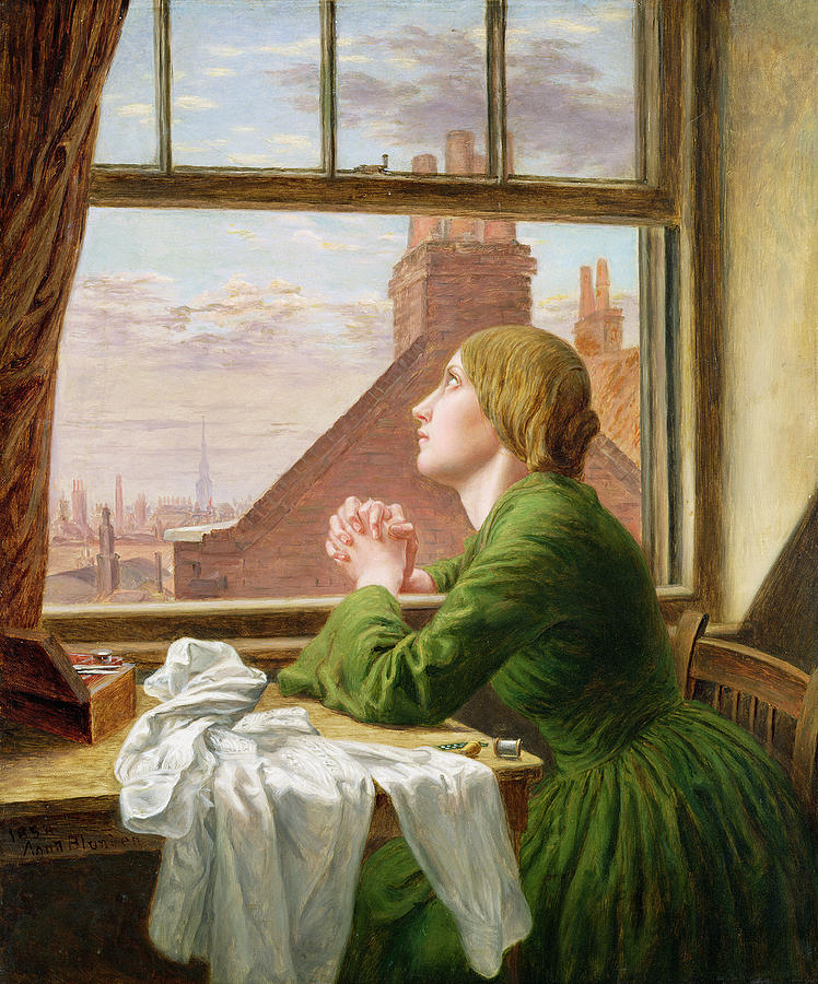 The Painting - The Song Of The Shirt by Anna E Blunden