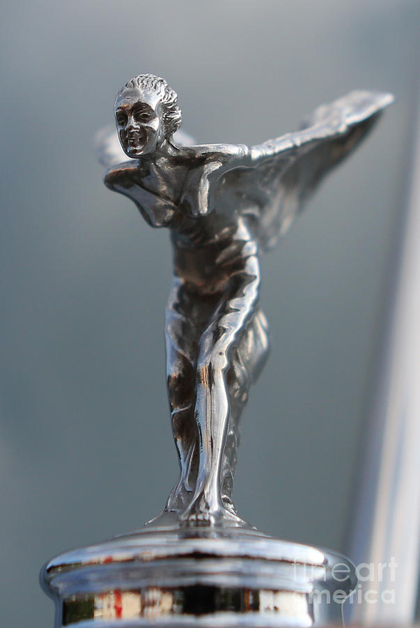 the spirit of ecstasy hood ornament ii rolls royce silver cloud photograph by lee dos santos. Black Bedroom Furniture Sets. Home Design Ideas