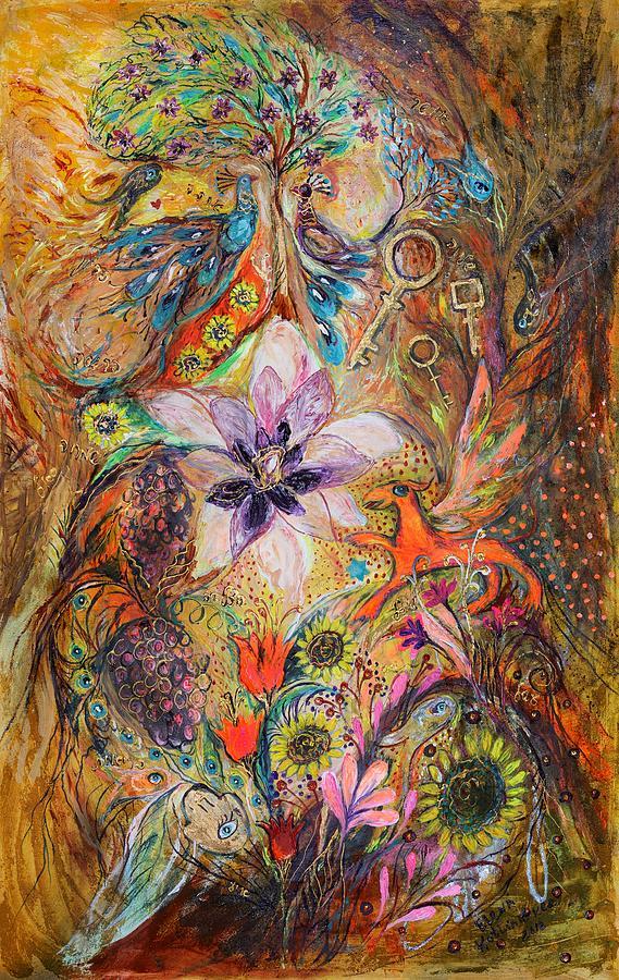 Judaica Painting - The Spirit Of Garden by Elena Kotliarker
