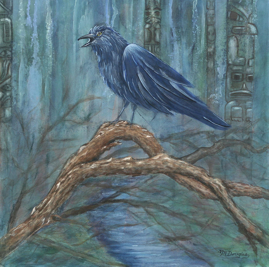 Raven Painting - The Spirit Of Trickster by Melodie Douglas