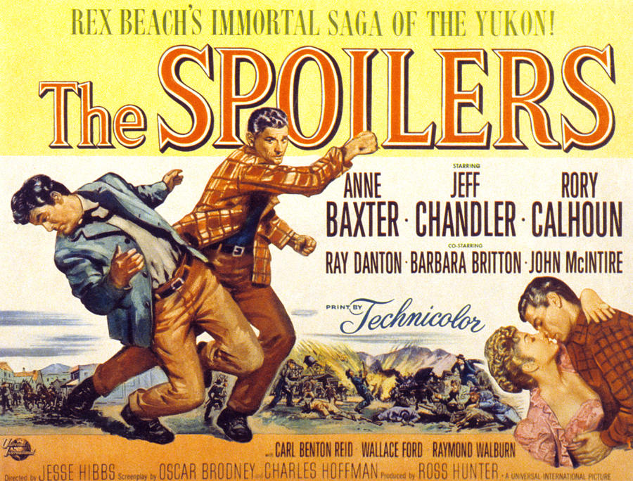 Baxter Photograph - The Spoilers, Rory Calhoun, Jeff by Everett