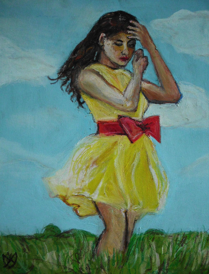 Portrait Painting - The Spring Bow Dress by Adam Kissel