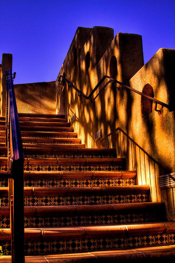 Tlaquepaque Photograph - The Stairway at Tlaquepaque by David Patterson