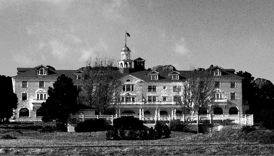 Abstract Digital Art - The Stanley Hotel by Bill Kennedy