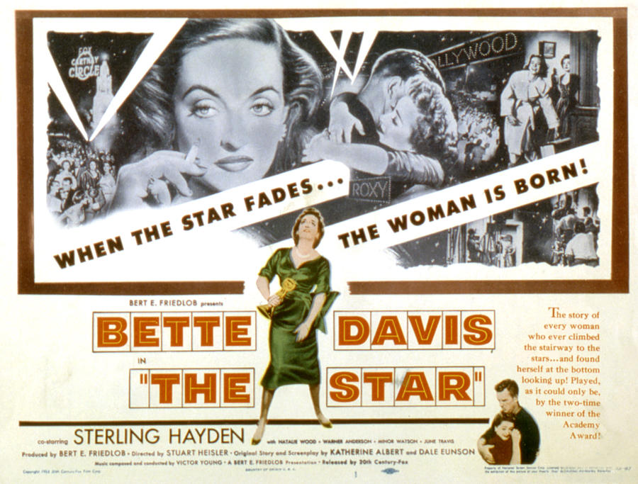 Actress Photograph - The Star, Bette Davis, Sterling Hayden by Everett