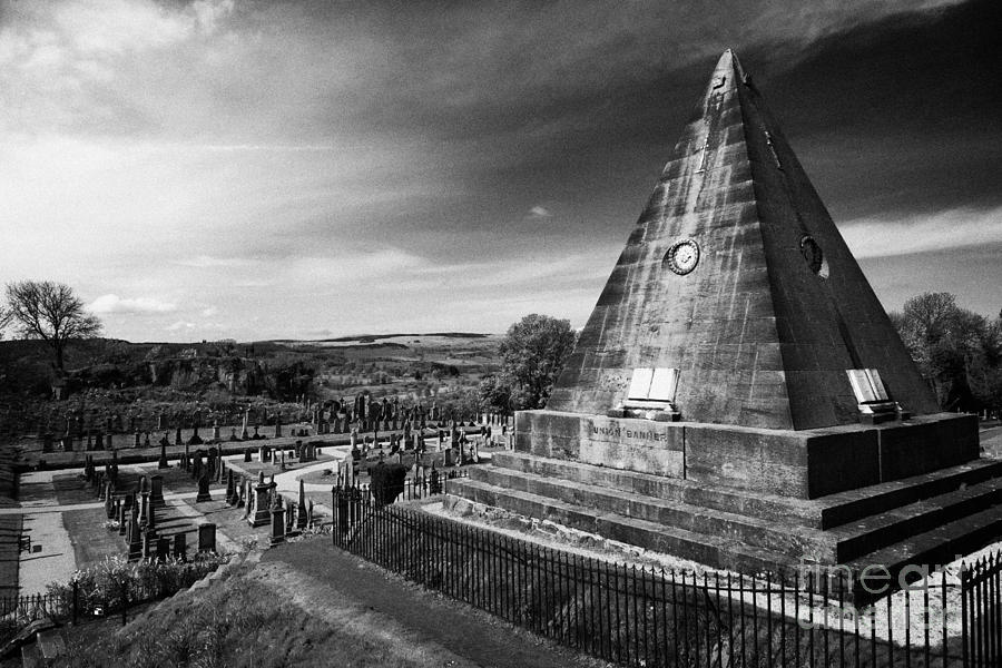 Star Photograph - The Star Pyramid Near Valley Cemetery Stirling Scotland Uk by Joe Fox