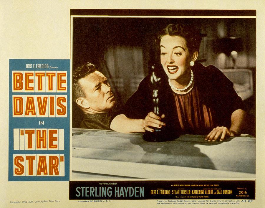 Actress Photograph - The Star, Sterling Hayden, Bette Davis by Everett