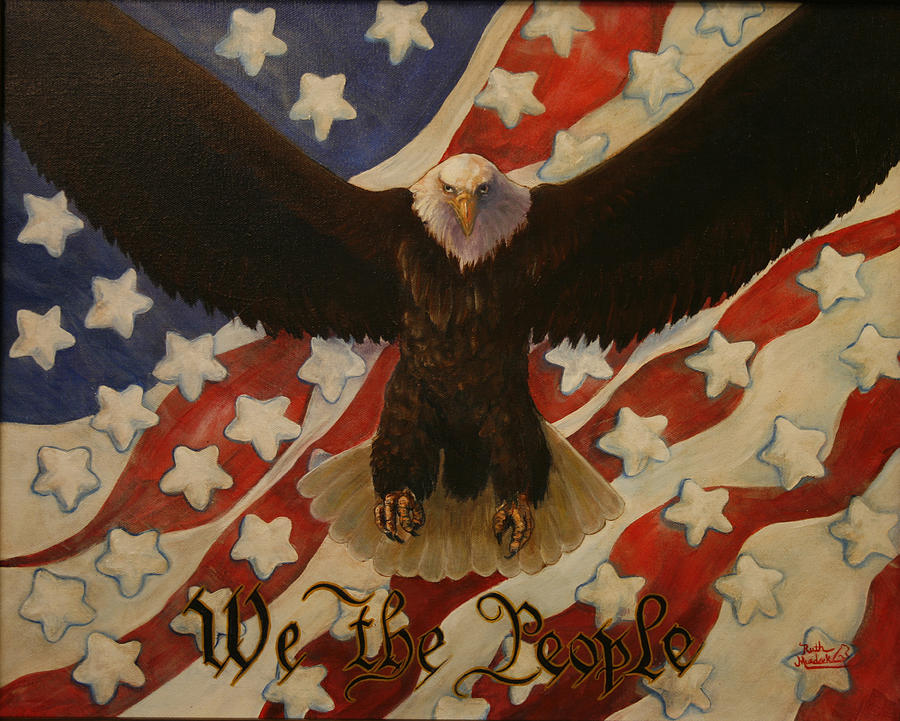 Bald Eagle Painting - The Stars Of America by Ruth Ann Murdock
