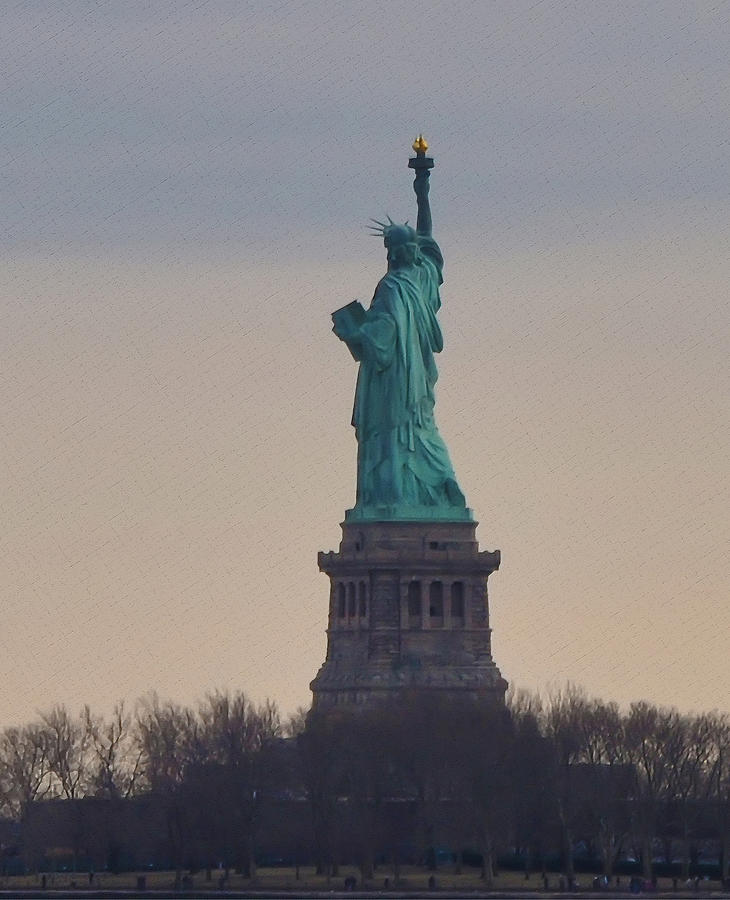 The Statue Of Liberty Photograph - The Statue Of Liberty by Bill Cannon