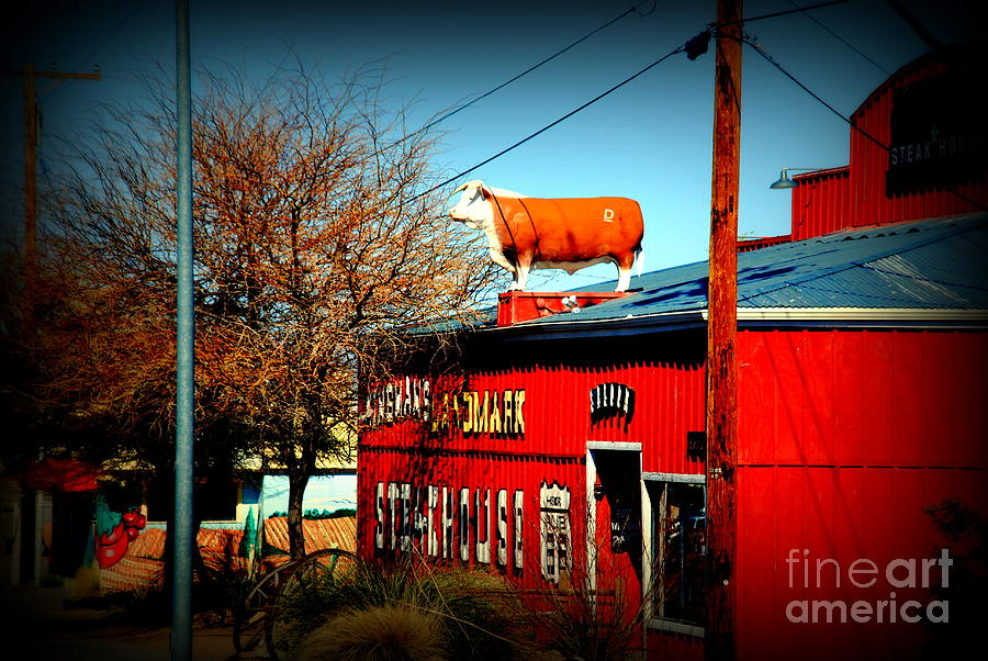 Red Steakhouse On Route 66 Photograph - The Steakhouse On Route 66 by Susanne Van Hulst