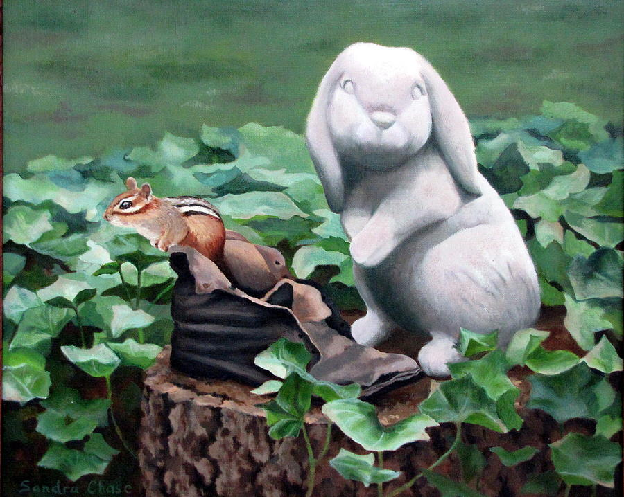 Chipmunk Painting - The Stone Rabbit by Sandra Chase