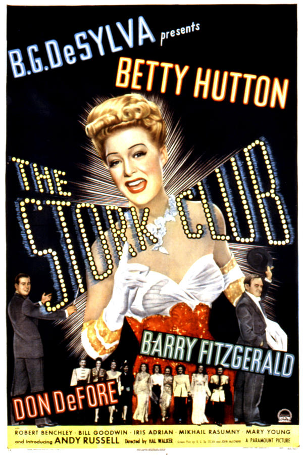 1940s Movies Photograph - The Stork Club, Don Defore, Betty by Everett