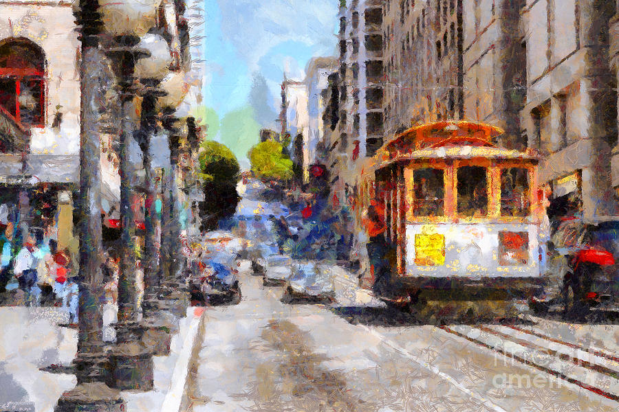 Sf Photograph - The Streets Of San Francisco . 7d7263 by Wingsdomain Art and Photography