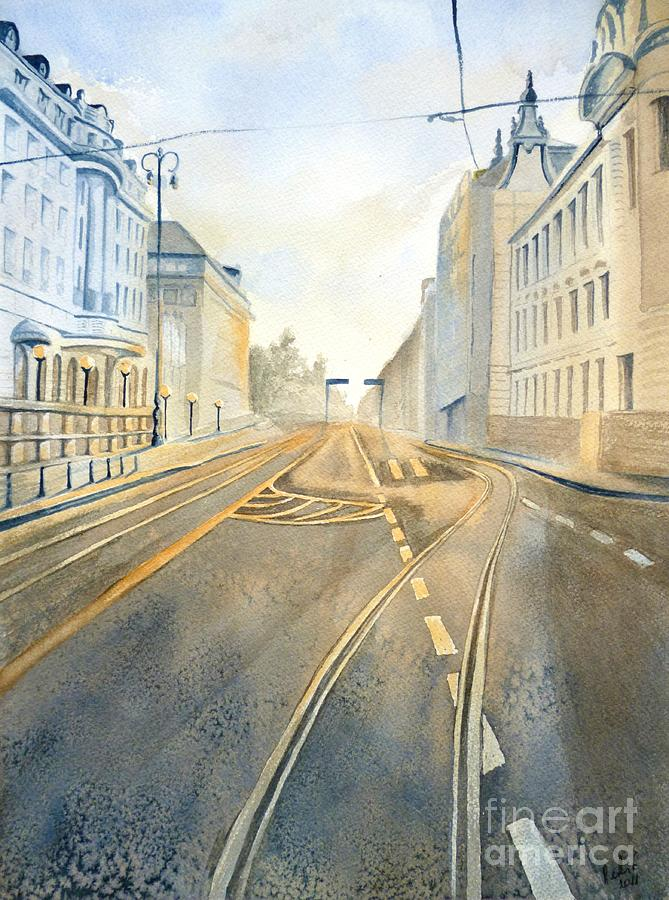 Zagreb Painting - The Streets Of Zagreb  by Eleonora Perlic