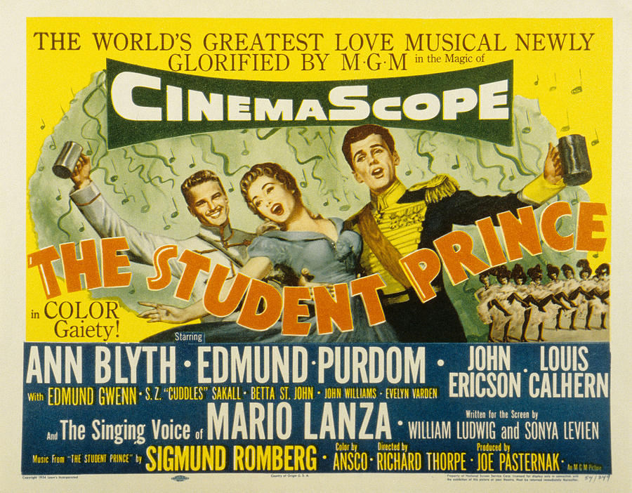 1954 Movies Photograph - The Student Prince, John Ericson, Ann by Everett