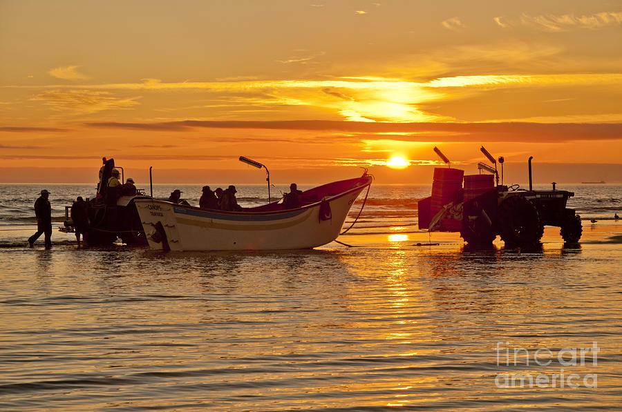 Boat Photograph - The Sun by Armando Carlos Ferreira Palhau